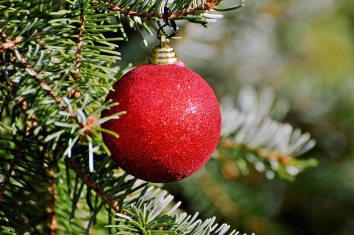 Ein Sonnenlichtbaum zu Weihnachten