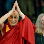 Dalai Lama beim Pop-Festival