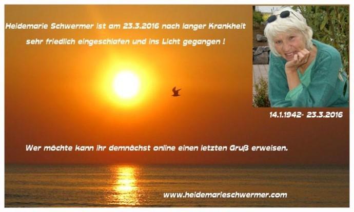 Rücklicht: Heidemarie Schwermer