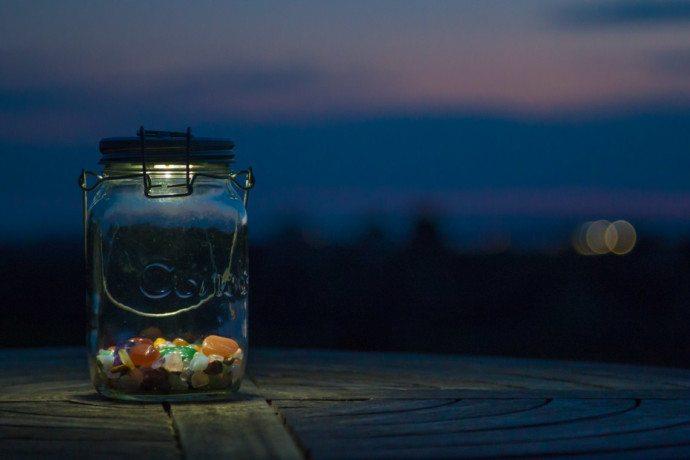 1 liter licht im sonnenglas newslichter gute. Black Bedroom Furniture Sets. Home Design Ideas
