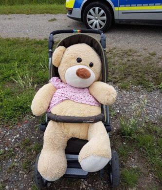 Polizei sucht Teddybesitzer :-)