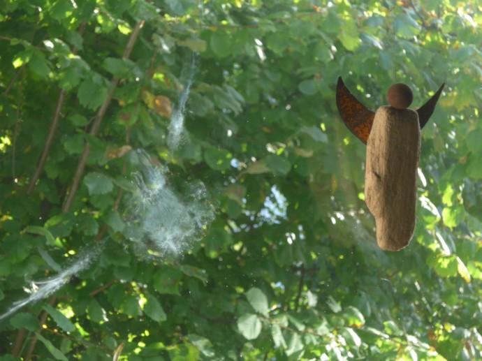 Lichtbild: Ein Engel ist an meinem Fenster erschienen