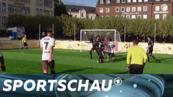 """Blinder Fußballer schießt """"Tor des Monats"""""""