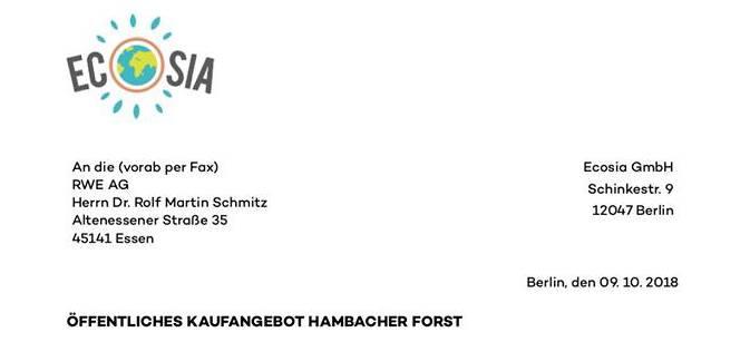 Ecosia will den Hambacher Forst kaufen