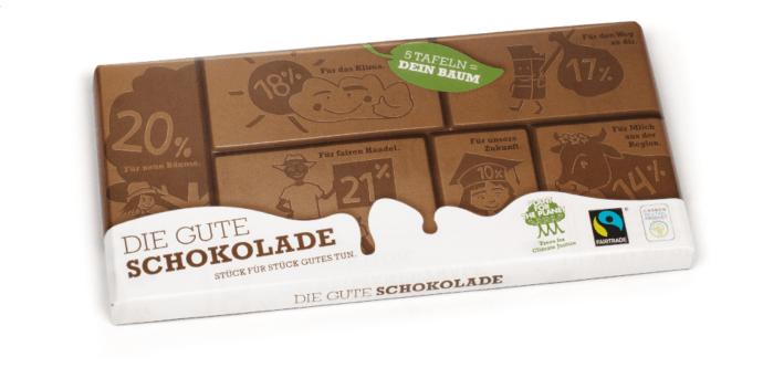 """Testsieger """"Die gute Schokolade"""""""