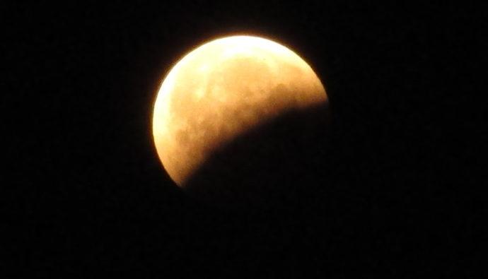 Lichtbild: Mondfinsternis