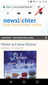 """Die newslichter """"Web-App"""""""