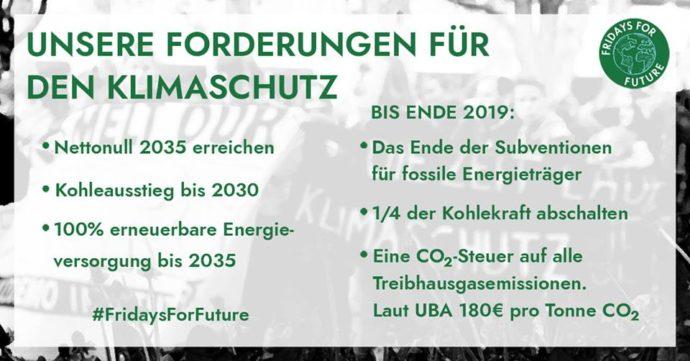 Fridays for Future fordern: Nettonull 2035!
