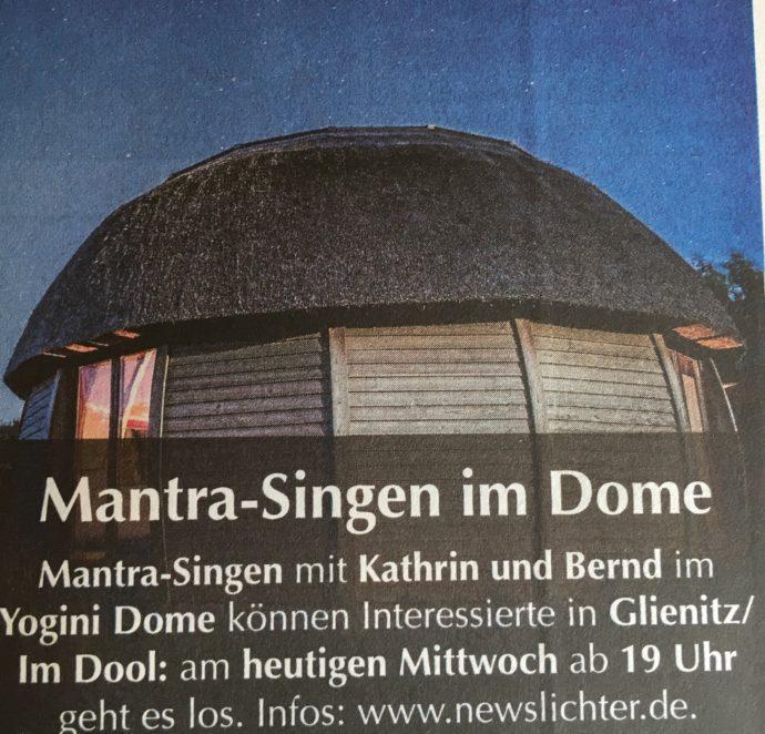 Lichtung: newslichter und Yogini Dome