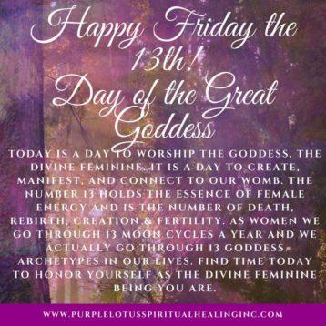 Freitag, der 13te: Tag der Göttin
