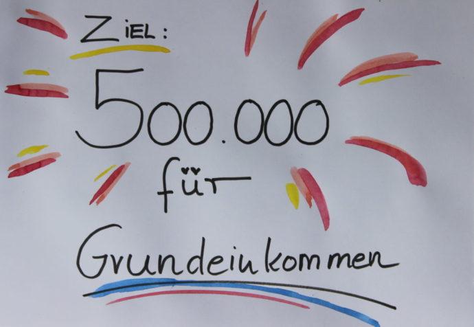 500.000 für Grundeinkommen