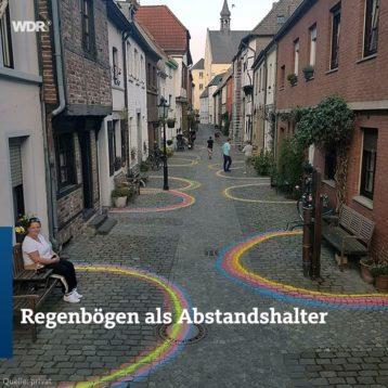 Regenbogen-Abstand