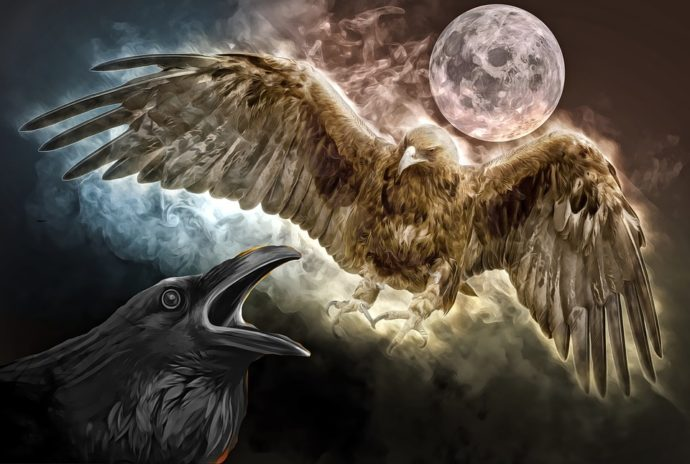 Der Adler und die Krähe